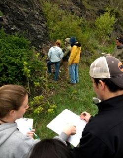 photo of students in the field