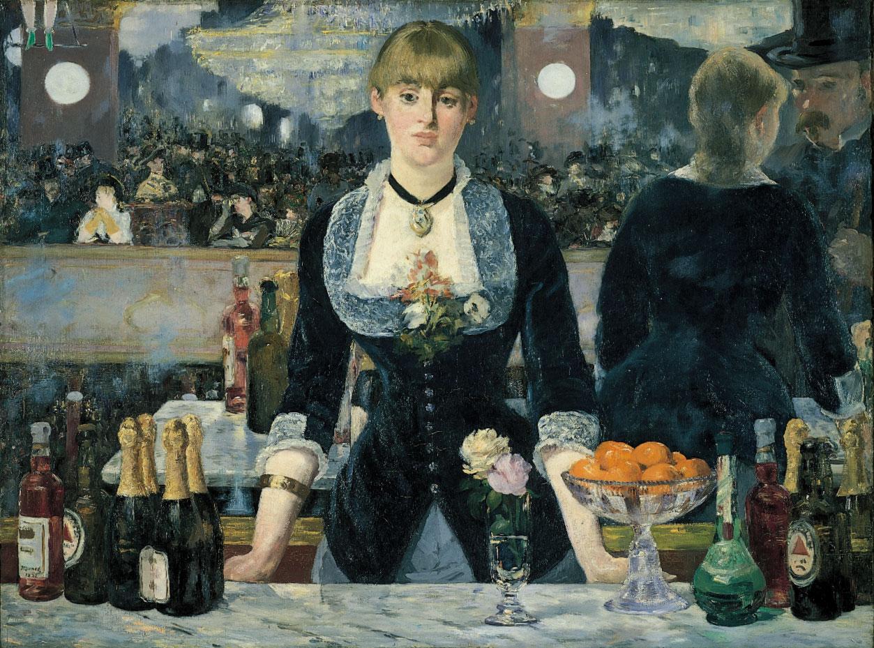 originele Franse titel Un bar aux Folies Bergère 1882 is het laatste grote werk van de Franse kunstschilder Édouard Manet olie op linnen 96 x 130 groot