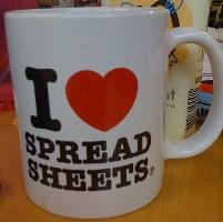 Spreadsheet Mug
