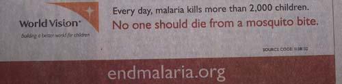 malaria ad