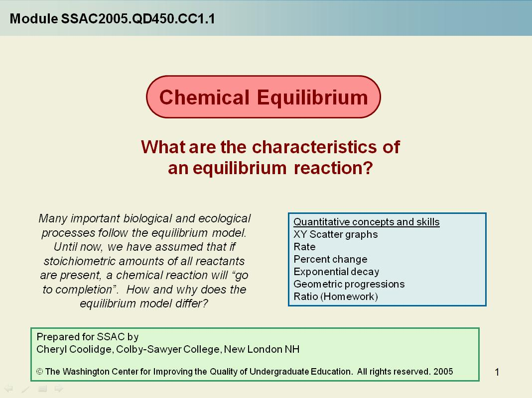 Chemical Equilibrium What Are The Characteristics Of Equilibrium