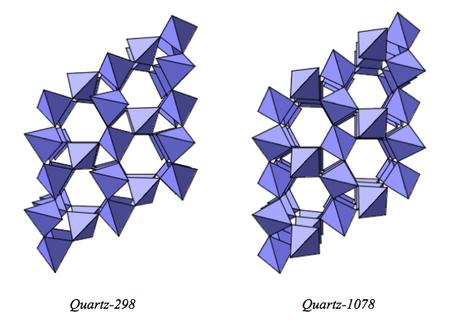 CrystalMaker diagrams quartz polymorph structures