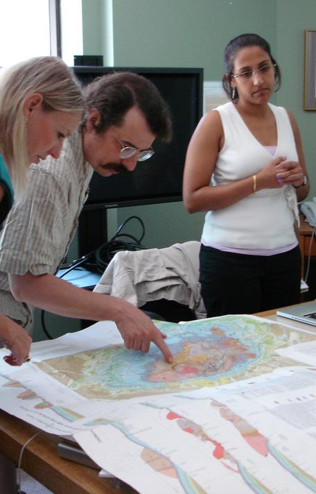 Looking at a geologic map of the Black Hills