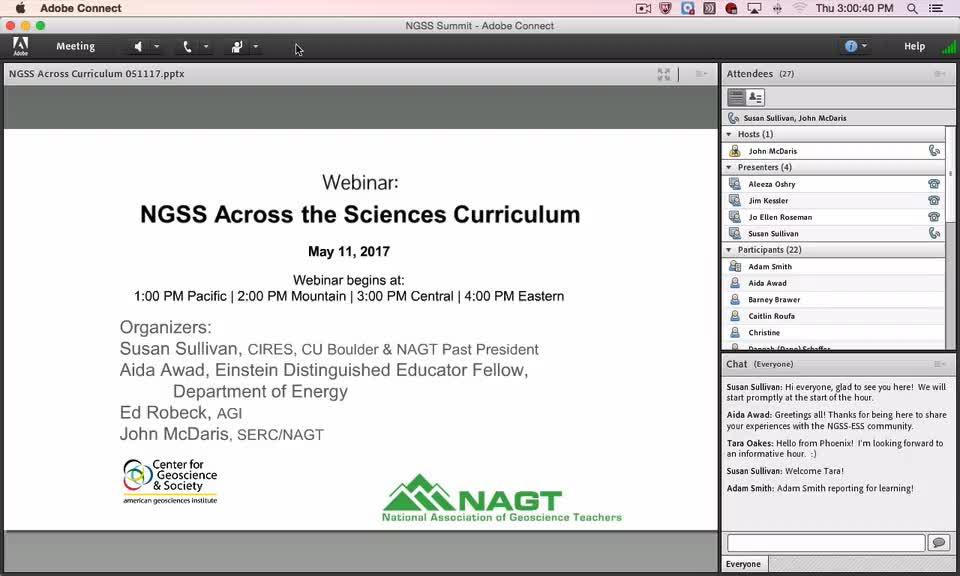 Webinar: NGSS Across the Sciences Curriculum