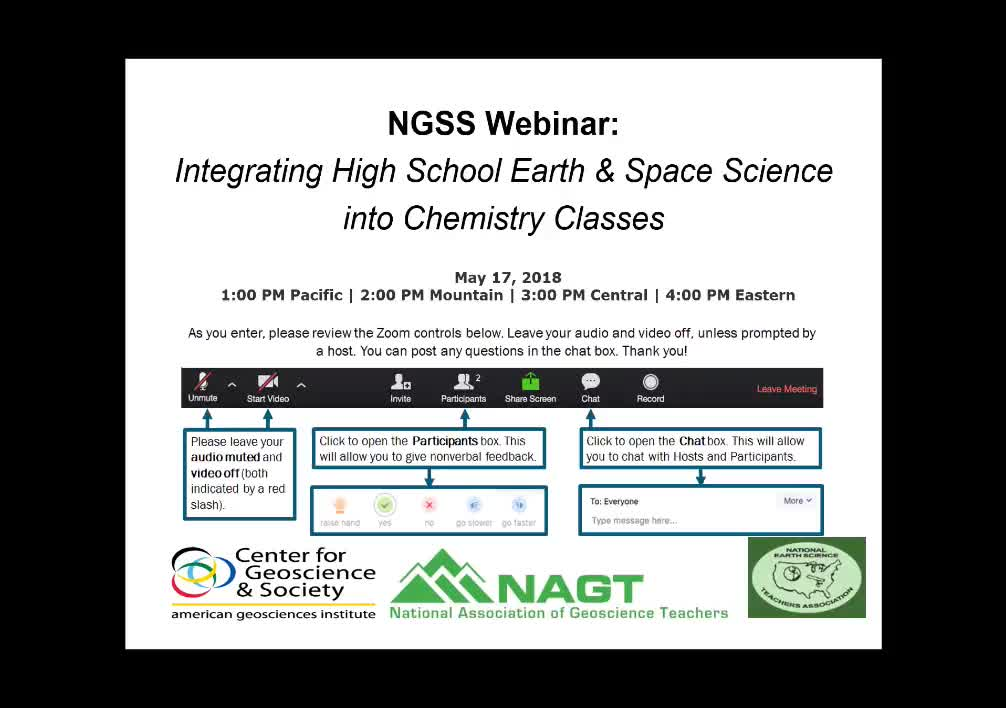 Webinar: Integrating High School Earth & Space Science into