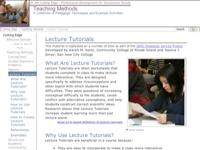 Go to /NAGTWorkshops/teaching_methods/lecture_tutorials/index.html