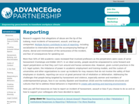Go to /advancegeo/resources/reporting.html