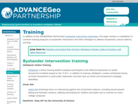 Go to /advancegeo/resources/training.html