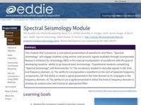 Go to https://serc.carleton.edu/eddie/enviro_data/activities/spec_seismo.html