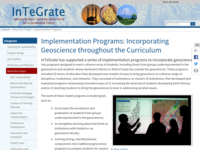 Go to http://serc.carleton.edu/integrate/about/implementation_programs.html