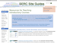 Go to /serc/site_guides/intro_course.html