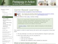 Go to http://serc.carleton.edu/sp/library/games/index.html