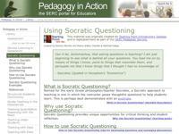 Go to http://serc.carleton.edu/sp/library/socratic/index.html