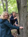 Faculty learning how to core trees in High Mountain at William Paterson University. Photo Credit: Nicole Davi