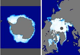 Latest monthly browse images of sea ice conditions.