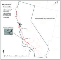 Figure 1: California map showing location of Wallace Creek
