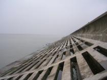 Figure 2: Embankment around Tai Lake