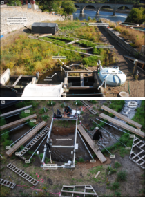 Figure 2. Experimental Set-up at Saint Anthony Falls Outdoor Stream Lab