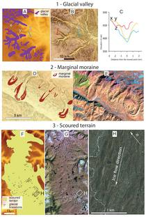 Fig. 3. Glacial Landforms mapped from remotely sensed images.