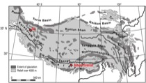 Figure 1. Extent of glaciation in Tibet and the Himalaya.