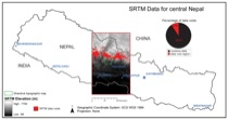Figure 1: SRTM data voids in central Nepal