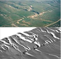 Figure 2: Wallace Creek Aerial Photo and LiDAR