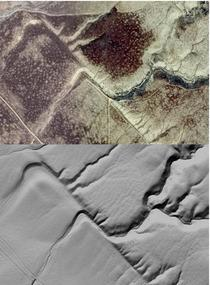 Figure 3: Photography and LiDAR of Wallace Creek