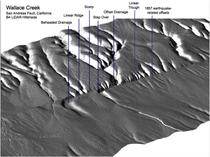 Figure 4: B4 LiDAR hillshade with labeled geomorphologic features