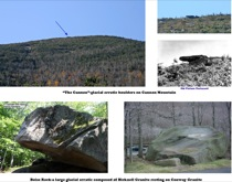 Figure 4: Glacial Erratics in Franconia Notch