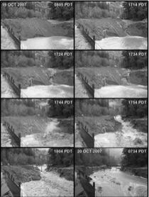 Initial Erosion of Marmot dam