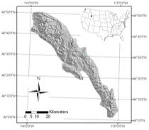 Lemhi Range Rock Glacier Distribution Map