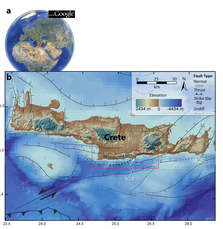 Figure 1. Location Map Of Crete