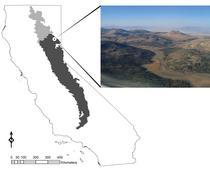 Fig. 1. Map of Sierra-Cascades