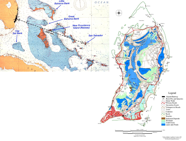 Figure 1 MapsBahamas San Salvador