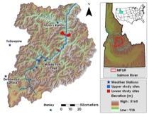 Middle Fork Salmon River study area map