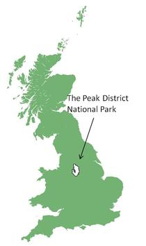 Fig. 1. Peak District Location