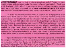 Shameless advertisement for jurists
