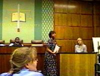 Direct testimony of a student witness by a law student